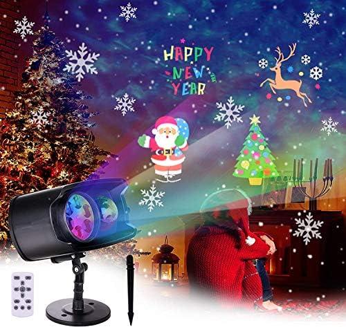 BACKTURE Proiettore Luci Natale, Faretti LED Illuminazione IP65 Impermeabile Incorporate 9 Scene e 13 Scene di Onde d'acqua, LED Lampada per Natale Halloween Festa e Decorazioni da Giardino