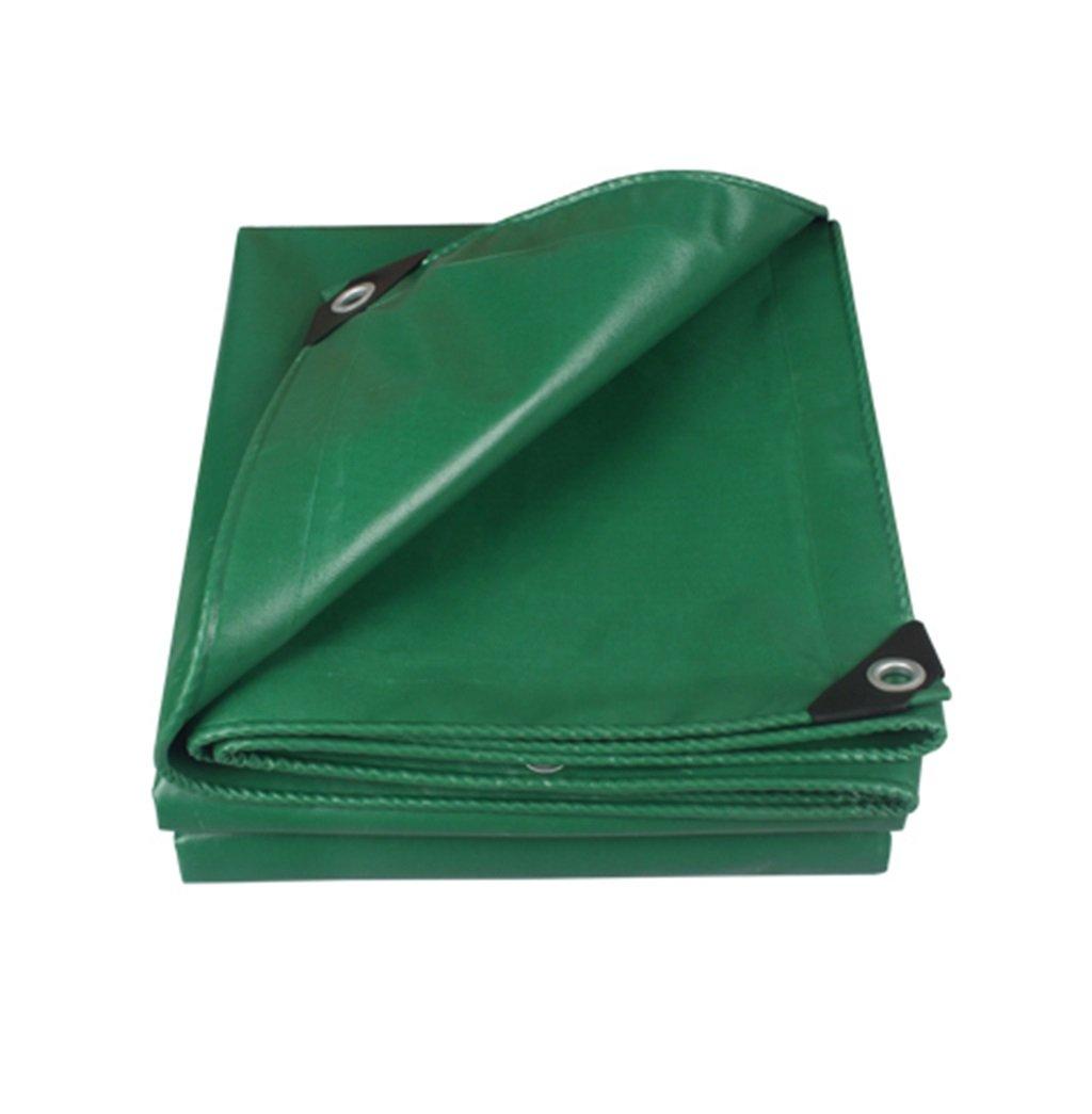 Mehrzweck Plane Doppeltes wasserdichtes Planen-Hochleistungsplanen-Grün-kampierendes Abdeckungs-Blatt-Plane-Sonnenschutz-Zelt im Freien - 100% wasserdicht und UV-geschützt - 450g   m², Stärke 0.35mm