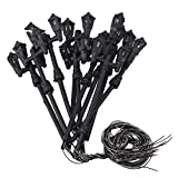 BQLZR Black HO Train Layout Model Lamppost Double Heads Tower Shape Pack of 10