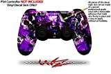 Purple Graffiti - Decal Style Wrap Skin fits Sony PS4 Dualshock Controller (CONTROLLER NOT INCLUDED) by WraptorSkinz