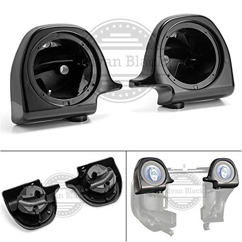Us Stock Moto Onfire Vivid Black 6.5 inch Speaker Pods for 1983-2013 Harley Lower Vented Pre-Rushmore Fairings