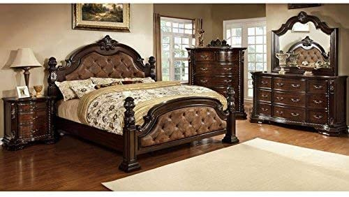 247SHOPATHOME Bedroom set, Queen, Oak