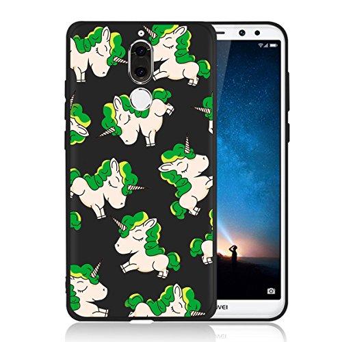 Cover para Huawei Mate 10 Lite , WenJie Pájaro Negro Accesorios Regalo TPU Silicona Suave Funda Case Tapa Caso Parachoques Carcasa Cubierta para Huawei Mate 10 Lite WM140