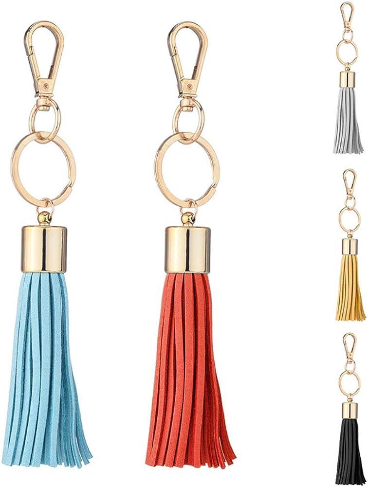 zhenleisier Fashion Tassel Keychain Keyring Key Holder Pendant Phone Purse Handbag Charm Black