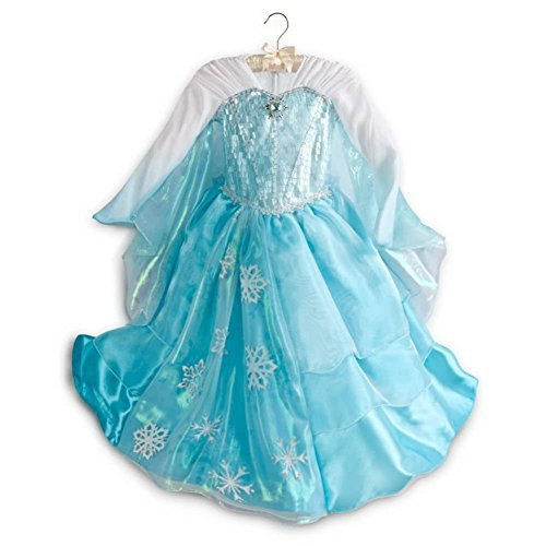 Disney Store Frozen Deluxe Elsa Costume Dress - Size 7/8(US Version, -