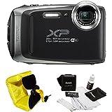 FujiFilm FinePix XP130 Rugged Waterproof WiFi Digital Camera (Dark Silver) + Focus Floating Strap Bundle