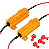 #3: 2 Pcs Eyourlife 50W 6ohm Load Resistors LED Turn Signal for Fixing Hyperflash with Quick Wire Clip
