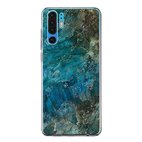 Case Compatible with Huawei P30 Pro, Waterproof TPU Silicone Gel Back Thin Flexible Shockproof Cover Skin Soft Case for Huawei (2, Huawei P30 Pro)