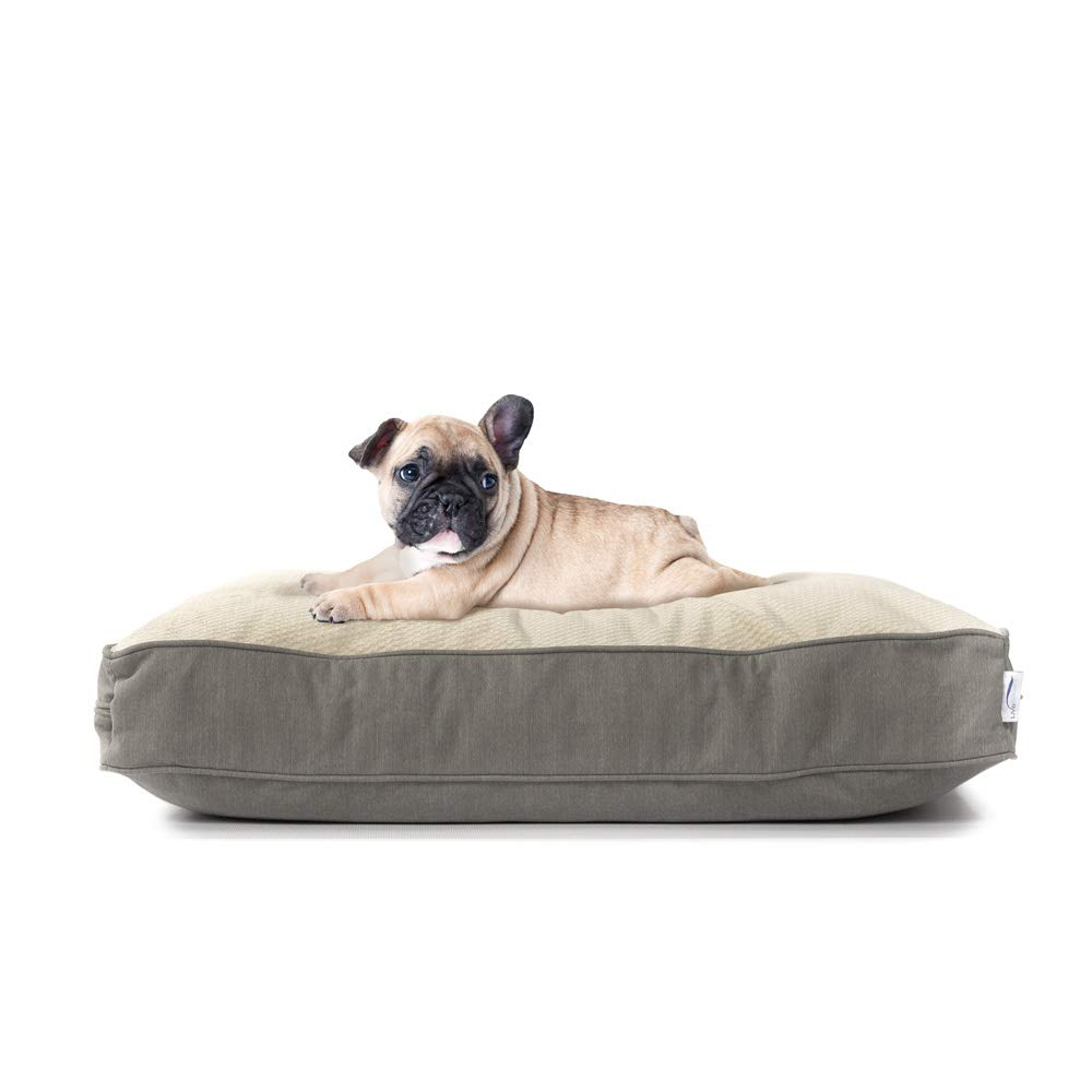eLuxurySupply Dog Beds – Orthopedic Cluster Fiber Filling Pet Bed for Dogs Cats – Waterproof Cotton Canvas Cover Featuring LiveSmart Technology – Assembled in The USA – Small Medium Large Size
