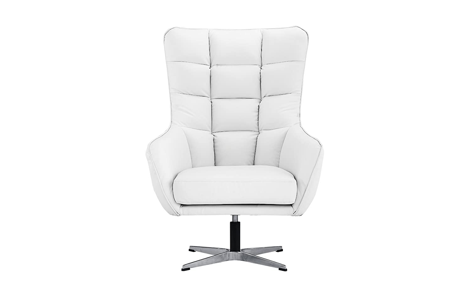 Amazon com modern living room bonded leather tufted armchair home office executive swivel chair white kitchen dining