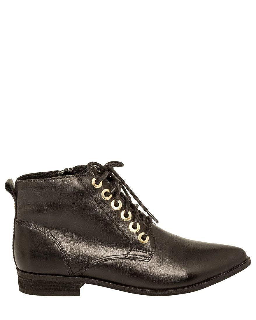 Black LE CHÂTEAU Leather Lace-Up Boot