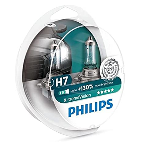 Philips X-treme Vision H7 12 V, 55 W Headlight Bulbs (Pack of 2) - Audi A5 Cabrio