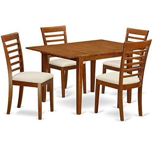 East West Furniture MILA5-SBR-C 5-Piece Kitchen Table Set