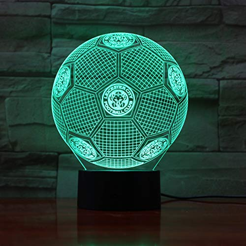 Sykdybz Fc Huddersfield Town 3D Illusion Led Night Light Boys Kids Baby Gifts Soccer Premier League Football Team Table Lamp Bedside,C