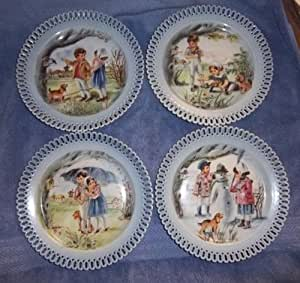 """Rare 1983 Seasons Remembered Porcelain Plate from Bing and Grondahl -- """"The Promise of Spring"""""""