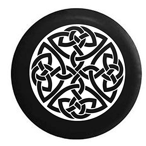 Rav4 Spare Tire (Celtic Cross Knot Irish Shield Warrior Jeep Spare Tire Cover Black 33 in)