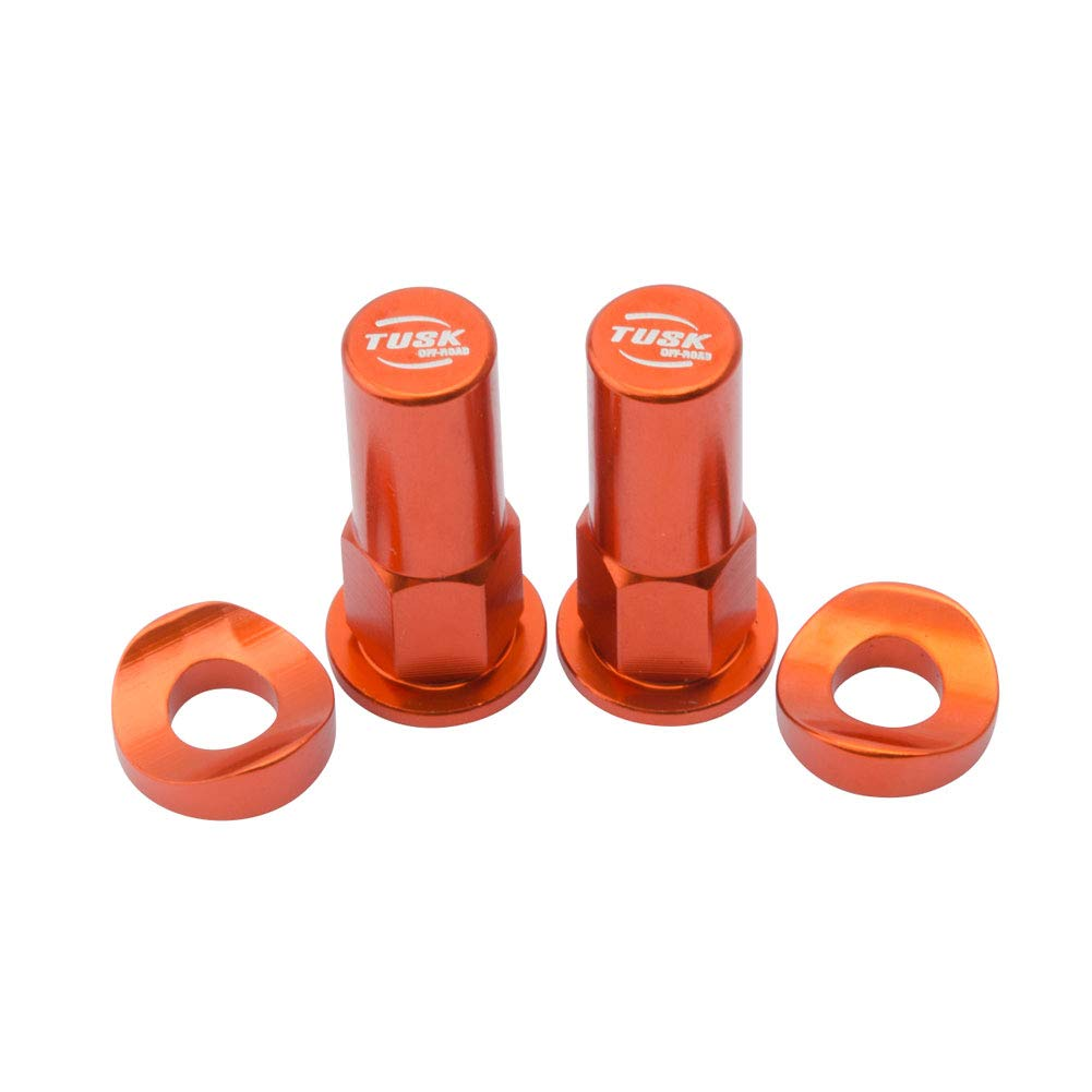 Tusk Rim Lock Nut/Spacer Kit Orange - Fits: Honda CRF250F 2019