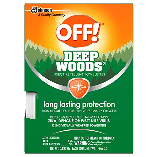 - OFF! Deep Woods Towelettes, 12 CT (Pack - 3)