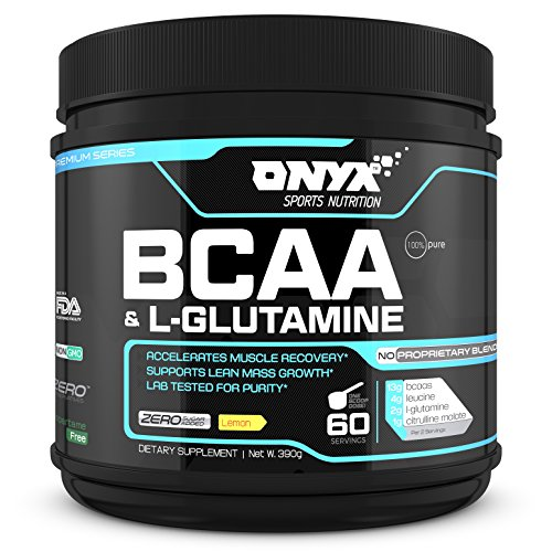 BCAA & L-Glutamine Post-Workout Powder (60 Servings) - Improved Recovery & Endurance to Build Muscle Fast - 2:1:1 Ratio of Branched Chain Amino Acids - Lemon Flavor