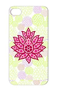 Decorative Lotus Flower Pink Yoga Design Flower Religion Philosophy Lotus New Age India Case Cover For Iphone 5