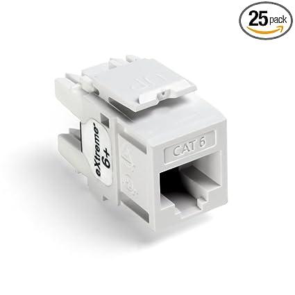 amazon com: leviton 61110-bw6 extreme quick port connector, white, 25-pack:  home improvement