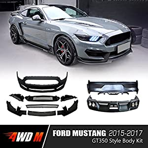 Wdmuscle Gt Style Body Kit For Ford Mustang   Gt Ecoboost V W Non Premium Rear Bumper Unpainted