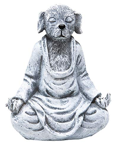 Funny Guy Mugs Garden Gnome Statue - Middle Finger Dog - Indoor/Outdoor Garden Gnome Sculpture for Patio, Yard or Lawn ()