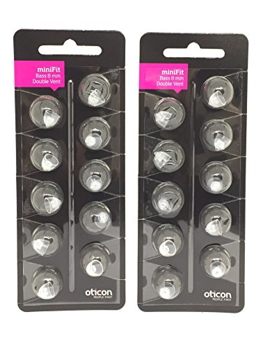 Oticon Minifit 8mm Double Bass Domes (20 - Vent Double