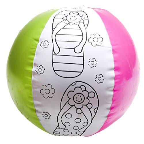 Fun Express Color Your Own Flip Flop Beach - Flip Ball Flop
