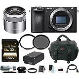 Sony a6500 Mirrorless Camera w/ 30mm Lens + 32GB Accessory Bundle