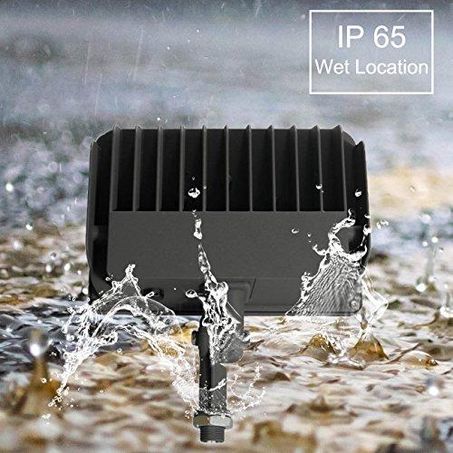 50w Led Flood With Photocell: LED Flood Light, Dusk-to-Dawn Photocell, 180 Adjustable