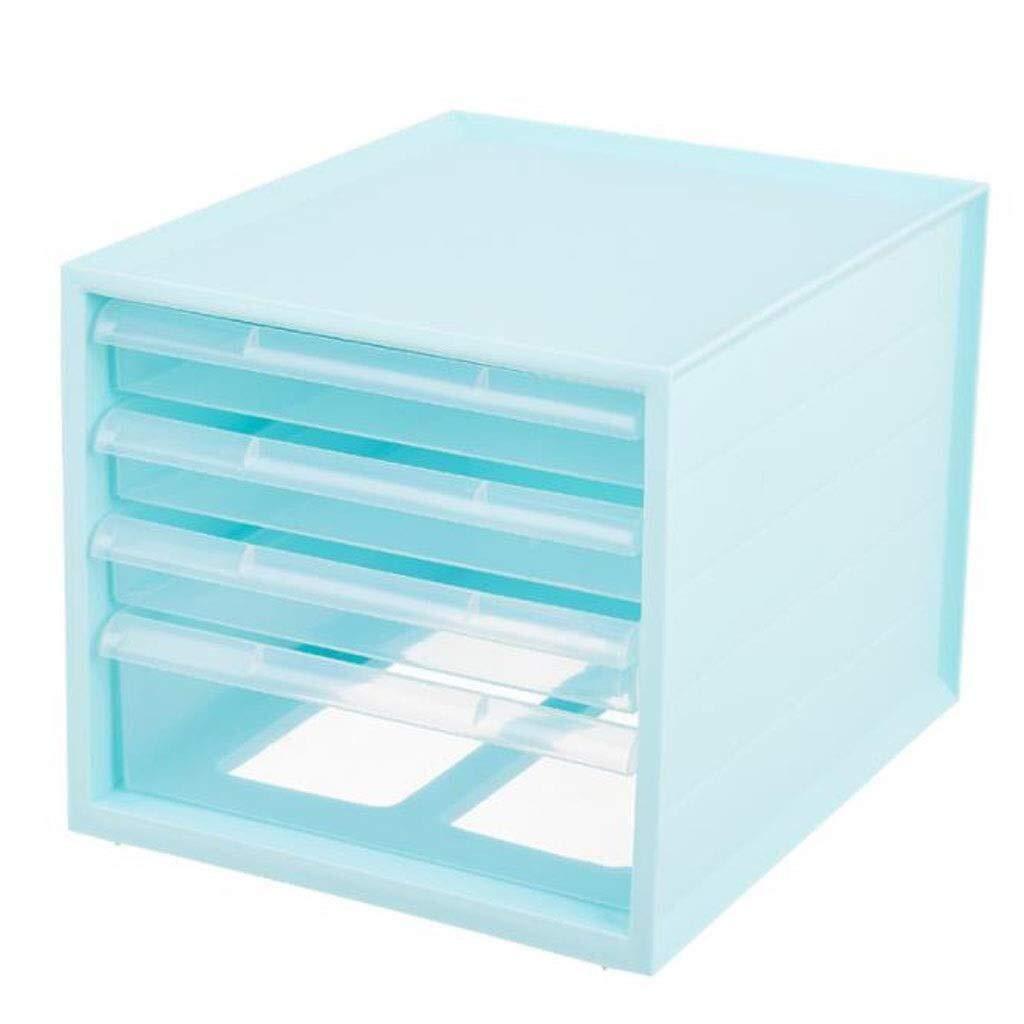 YCYG File Shelf Wooden - File Holder Racks, File Organi Desk Organiser, Desktop Cabinet Desk Organiser Plastic File Rack Stationery Storage Box Desk Tidy 4 Drawers (Color : White) (Color : C) by YCYG