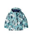 Columbia Kids Baby Girl's Magic Mile Jacket (Toddler) Pacific Rim Patchwork Print/Collegiate Navy 2T Toddler