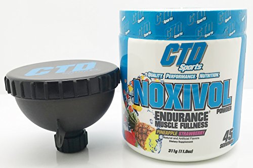 Free Funnel Promo. Nitric Oxide Powder, Powerful Muscle Building NO Booster Supplement with L-Arginine for Muscle Growth, Pumps and Energy. Noxivol 45 Servings Pineapple Strawberry Flavor.