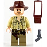LEGO Indiana Jones Minifig Indiana Jones Open Shirt Larger Image