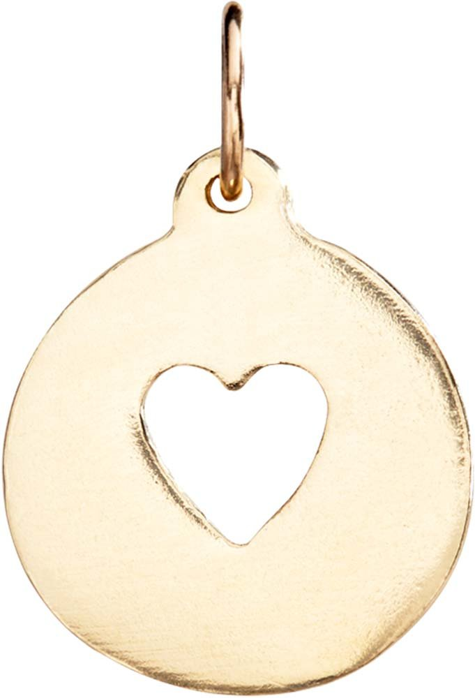 Helen Ficalora Heart Cutout Charm Yellow Gold