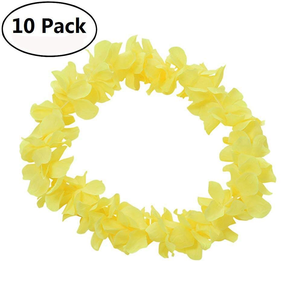 36pcs Colorful Flower Leis Garland Necklace Fancy Dress Party Hawaii Beach Decor
