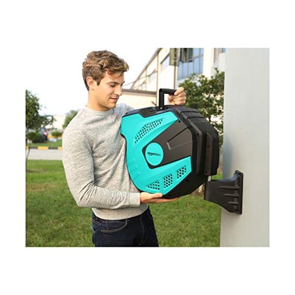 Amazon Basics - Avvolgitubo automatico con flessibile, montaggio a parete, 25 m 7 spesavip