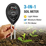 Atree Soil pH Meter, 3-in-1 Soil Tester Kits with