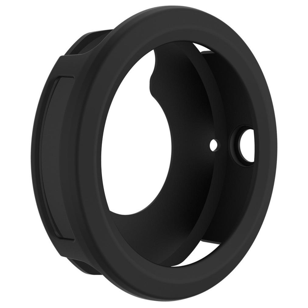 for Garmin Vivoactive 3 Case Cover, Silicone Protector Case Cover Shell for Garmin Vivoactive 3 Smart Watch (Black)