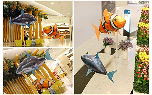 LVMENGMENG Air Swimmers Remote Control Inflatable Flying Turbo - Flying Balloon Toy Balloon Shark & Clownfish & Goldfish by LVMENGMENG (Image #3)