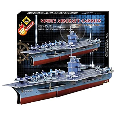 Trans-toys Nimitz Aircraft Carrier Cool Model DIY 3D Puzzle Jigsaw Educational Kids Toy New