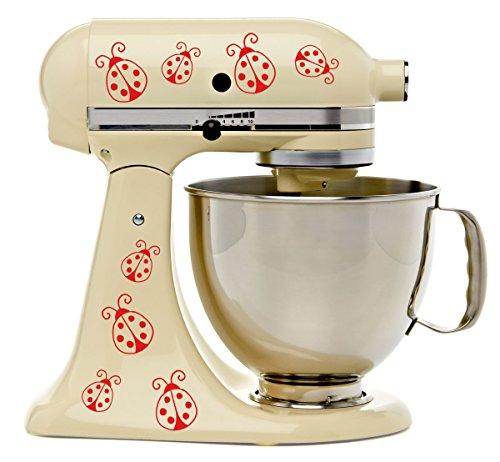 Lovely Ladybugs Red Viynl Kitchenaid Mixer Mixing Machine...