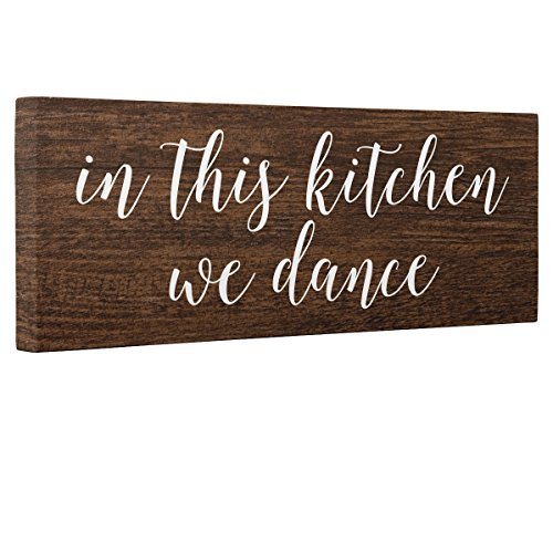 Adonis554Dan In This Kitchen We Dance Wood Like Wood Plaque Wall Art Home Décor
