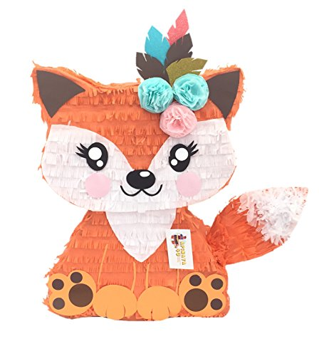 APINATA4U Girly Fox Pinata with Flowers & Feathers]()