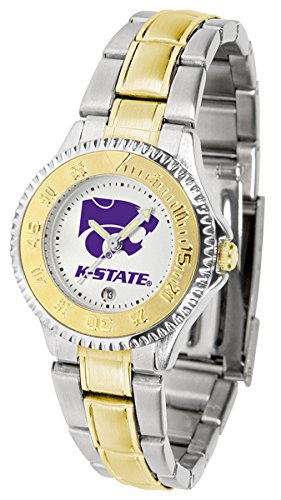 (Kansas State Wildcats Competitor Two-Tone Women's Watch)
