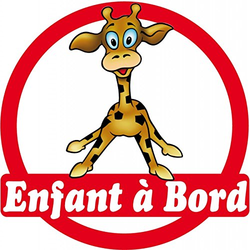 Sticker enfant à bord Girafe 16x16cm réf 166