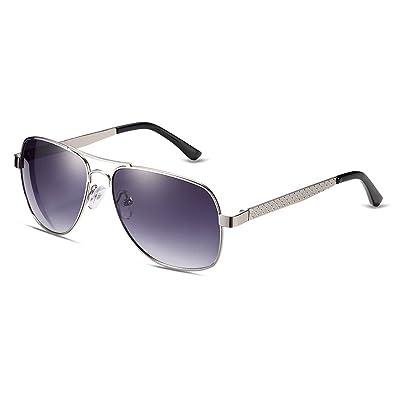 iLove EU Herren Sonnenbrille Vintage Metallrahmen Aviator Frosch Spiegel Brille Sonnenbrillen mit Kreuz Blumen am Bügel Pink Gläser 2YOYPq