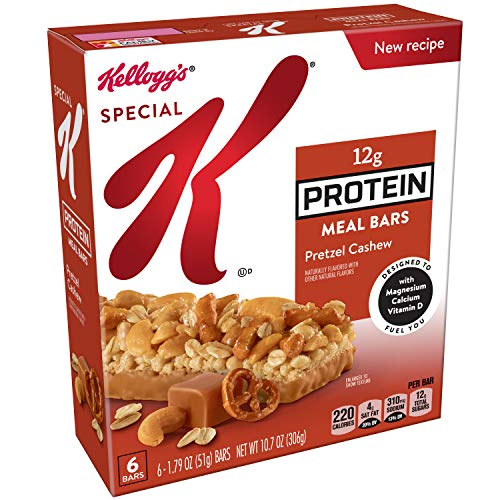 (Special K Protein Meal Bars, Pretzel Cashew, 10.7 oz (6 Count)(Pack of 6) )