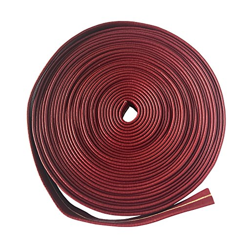 - YJ COOL Synthetic Leather Ito Sageo Wrapping Cord for Japanese Samurai Swords Handle Saya - Dark red